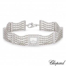 Chopard 18k White Gold Happy Curves Bracelet 85/4831-0